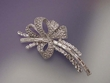 Cubic Zirconia  Bow  Brooch