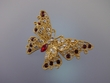 Two-layer  Butterfly  Brooch