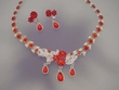Red Necklace & Earrings Set