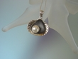 Cultured Freshwater Pearl Sterling Silver Pendant  Necklace