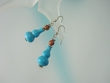 Blue Turquoise & Picasso Jasper Sterling Silver Earrings