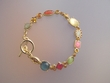 Multicolor Stone Bracelet with Swarovski Crystals