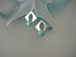 Turquoise Geometric Sterling Silver Earrings-SOLD