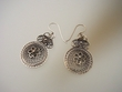 Sterling Silver Rosette Earrings