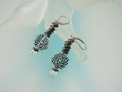 Contemporary Black & White Swarovski Crystal Earrings
