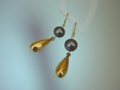 Black  Thaiti  Pearl  & 14K - Gold Vermeil Dangle Earrings