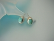 Turquoise Oval Sterling Silver  Earrings -  TQ5136E