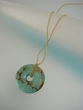 Modern Green Turquoise  Drop  Necklace - SOLD