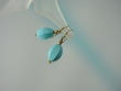 Blue Turquoise & Vermeil Drop Earrings