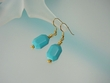 Blue Turquoise and Vermeil Drop Earrings