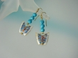Blue Turquoise Butterfly Dangle Earrings