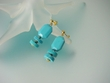 Blue Turquoise and Vermeil Dangle Earrings