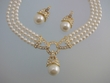Ivory  Pearl  Drop  Necklace & Earrings  Set