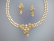 Ivory  Pearl  Floral  Necklace & Earrings Set