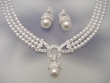 White Pearl  Drop  Necklace  &  Earrings  Set