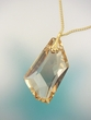 Contemporary  Swarovski  Asymmetrical  Pendant  Necklace