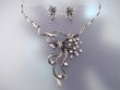 Swarovski  Crystal  Floral  Necklace & Earrings Set