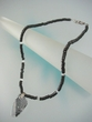 Contemporary Black & White  Swarovski  Crystal  Pendant  Necklace