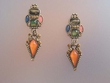 Exotic Stone Earrings with Swarovski Crystals
