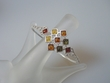 Multicolor Baltic Amber Sterling Silver Bangle