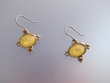Canary Yellow  Stone & Swarovski Crystal Earrings