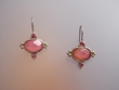 Pink Stone & Swarovski Crystal Earrings