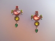 Exotic Multicolor Stone & Swarovski Crystal Earrings