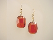 Red Magma Swarovski  Crystal  Drop Earrings