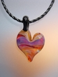 Dichroic Heart  Pendant Necklace