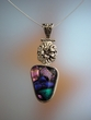 Floral Dichroic Sterling Pendant Necklace