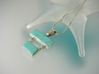 Modern Turquoise Sterling Silver Pendant Necklace