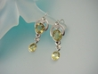 Citrine & Sterling Silver Dangle Earrings