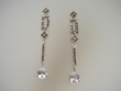 Marcasite & Cubic Zirconia Dangle Earrings