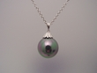 Peacock  Pearl Sterling  Silver  Pendant  Necklace