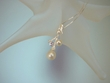 White  Freshwater Pearl & Ametist Pendant Necklace