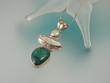 Turquoise & Pearl Sterling Silver Pendant Necklace