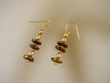 Brown & Gold Freshwater Pearl Vermeil Earrings