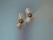 Tahiti  Pearl  &  Sterling  Silver  Earrings