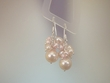 Pink Freshwater Pearl Sterling Silver Drop Earrings