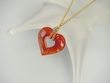 Romantic Heart Swarovski Crystal Pendant Necklace - SOLD