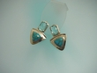 Blue Turquoise & Swiss-Blue Topaz Earrings