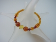 Honey Faceted Baltic Amber Stretch Bracelet -  Sold