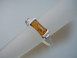 Modern Honey Baltic Amber Sterling Silver Bangle