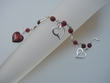 Cherry  Baltic Amber  Hearts & Sterling Silver  Bracelet