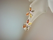 Multicolor  Baltic  Amber Butterfly Sterling Silver Earrings