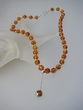 Modern Baltic Amber Round Beads Necklace & Sterling Silver-SOLD