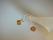 Honey Baltic  Amber  Dangle Sterling  Silver Earrings