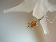 Honey Baltic Amber Star of David Sterling Silver Necklace