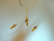 Artistic Baltic Amber & 14K Gold Vermeil Necklace  Set