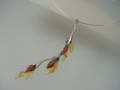 Multicolor  Baltic  Amber & Sterling  Silver  Necklace